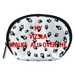 My Vizsla Walks On Me  Accessory Pouches (Medium)