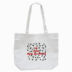 My Vizsla Walks On Me  Tote Bag (White)