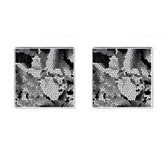 Mosaic Stones Glass Pattern Cufflinks (Square)