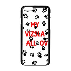 My Vizsla Walks On Me  Apple iPhone 6/6S Black Enamel Case