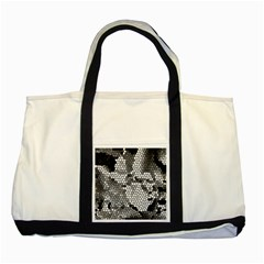 Mosaic Stones Glass Pattern Two Tone Tote Bag
