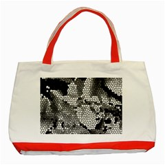 Mosaic Stones Glass Pattern Classic Tote Bag (Red)
