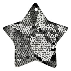 Mosaic Stones Glass Pattern Star Ornament (Two Sides)