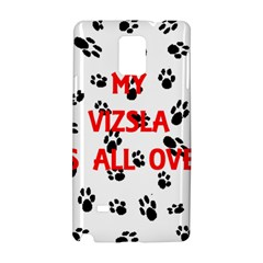 My Vizsla Walks On Me  Samsung Galaxy Note 4 Hardshell Case