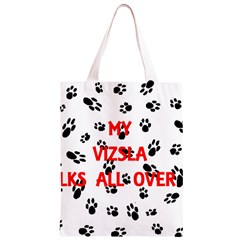 My Vizsla Walks On Me  Classic Light Tote Bag