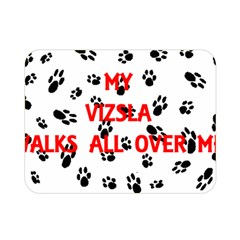 My Vizsla Walks On Me  Double Sided Flano Blanket (Mini)