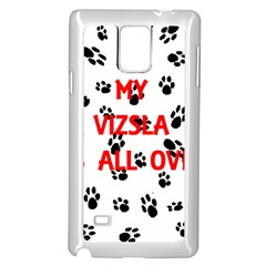 My Vizsla Walks On Me  Samsung Galaxy Note 4 Case (White)