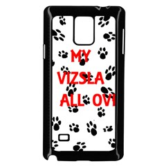 My Vizsla Walks On Me  Samsung Galaxy Note 4 Case (Black)