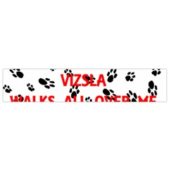 My Vizsla Walks On Me  Flano Scarf (Small)