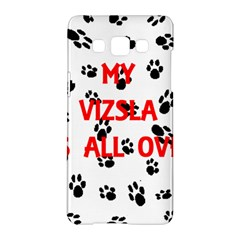 My Vizsla Walks On Me  Samsung Galaxy A5 Hardshell Case