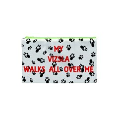 My Vizsla Walks On Me  Cosmetic Bag (XS)