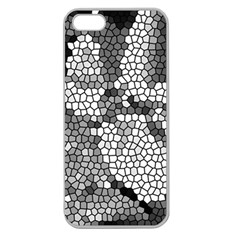 Mosaic Stones Glass Pattern Apple Seamless iPhone 5 Case (Clear)