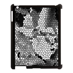 Mosaic Stones Glass Pattern Apple iPad 3/4 Case (Black)