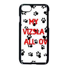 My Vizsla Walks On Me  Apple iPhone 7 Seamless Case (Black)