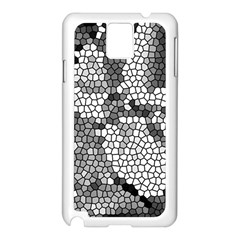 Mosaic Stones Glass Pattern Samsung Galaxy Note 3 N9005 Case (White)