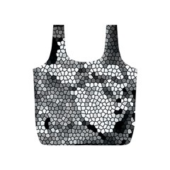 Mosaic Stones Glass Pattern Full Print Recycle Bags (S)
