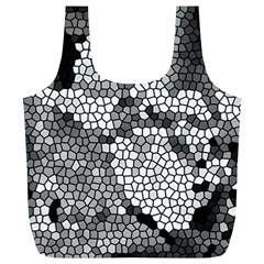 Mosaic Stones Glass Pattern Full Print Recycle Bags (L)