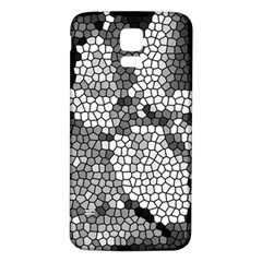 Mosaic Stones Glass Pattern Samsung Galaxy S5 Back Case (White)