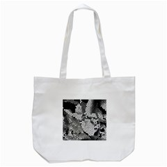 Mosaic Stones Glass Pattern Tote Bag (White)