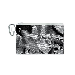 Mosaic Stones Glass Pattern Canvas Cosmetic Bag (S)