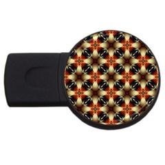 Kaleidoscope Image Background USB Flash Drive Round (1 GB)