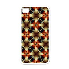 Kaleidoscope Image Background Apple iPhone 4 Case (White)
