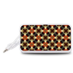 Kaleidoscope Image Background Portable Speaker (White)