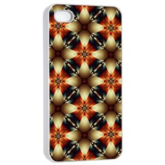 Kaleidoscope Image Background Apple iPhone 4/4s Seamless Case (White)