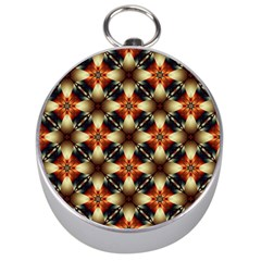 Kaleidoscope Image Background Silver Compasses