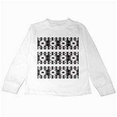 Pattern Background Texture Black Kids Long Sleeve T-Shirts