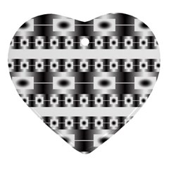 Pattern Background Texture Black Heart Ornament (2 Sides)