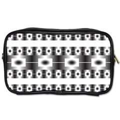 Pattern Background Texture Black Toiletries Bags 2-Side