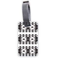 Pattern Background Texture Black Luggage Tags (Two Sides)