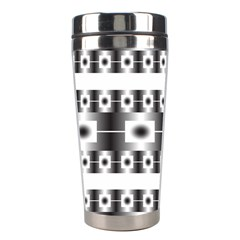 Pattern Background Texture Black Stainless Steel Travel Tumblers