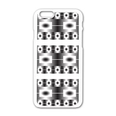Pattern Background Texture Black Apple iPhone 6/6S White Enamel Case