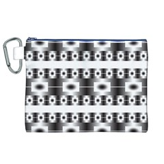 Pattern Background Texture Black Canvas Cosmetic Bag (XL)