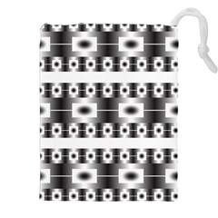 Pattern Background Texture Black Drawstring Pouches (XXL)