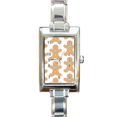 Pattern Christmas Biscuits Pastries Rectangle Italian Charm Watch