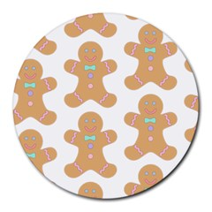 Pattern Christmas Biscuits Pastries Round Mousepads