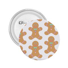 Pattern Christmas Biscuits Pastries 2.25  Buttons
