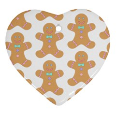 Pattern Christmas Biscuits Pastries Ornament (Heart)