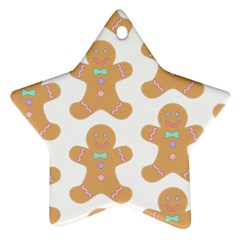 Pattern Christmas Biscuits Pastries Ornament (Star)