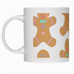 Pattern Christmas Biscuits Pastries White Mugs