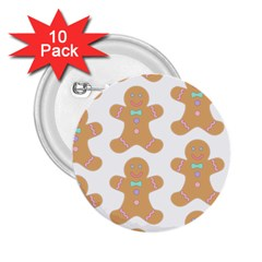 Pattern Christmas Biscuits Pastries 2.25  Buttons (10 pack)