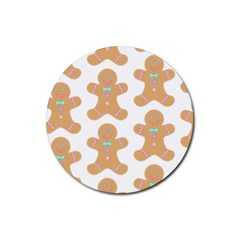 Pattern Christmas Biscuits Pastries Rubber Round Coaster (4 pack)