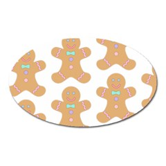Pattern Christmas Biscuits Pastries Oval Magnet