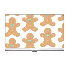 Pattern Christmas Biscuits Pastries Business Card Holders
