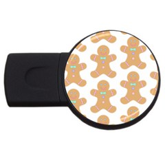Pattern Christmas Biscuits Pastries USB Flash Drive Round (2 GB)