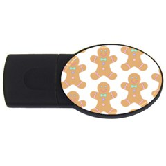 Pattern Christmas Biscuits Pastries USB Flash Drive Oval (1 GB)