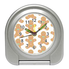 Pattern Christmas Biscuits Pastries Travel Alarm Clocks